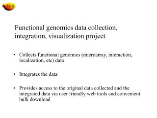 Functional genomics data collection, integration, visualization project