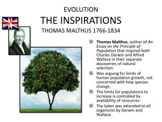 EVOLUTION THE INSPIRATIONS THOMAS MALTHUS 1766-1834