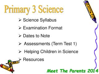 Primary 3 Science