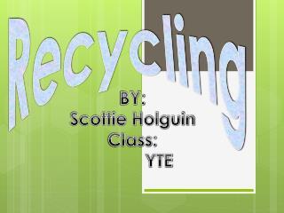 BY:  Scottie Holguin Class:           YTE