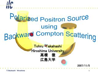 Polarized Positron Source  using  Backward Compton Scattering
