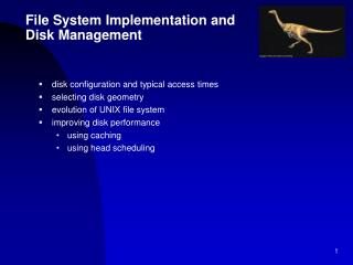 File System Implementation and Disk Management