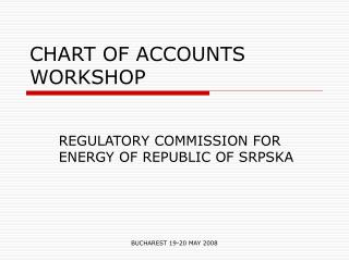 CHART OF ACCOUNTS WORKSHOP