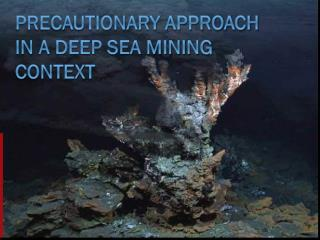 Precautionary Approach  in A deep sea mining context