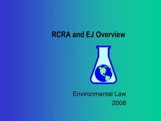 RCRA and EJ Overview