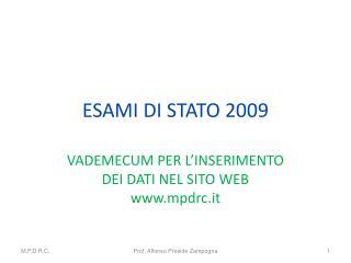 ESAMI DI STATO 2009