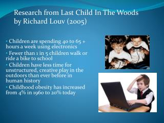 Children are spending 40 to 65 + hours a week using electronics