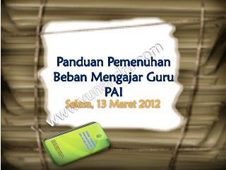 Selasa , 13  Maret  2012