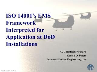 ISO 14001 s EMS Framework Interpreted for Application at DoD Installations