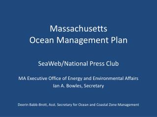 Massachusetts  Ocean Management Plan