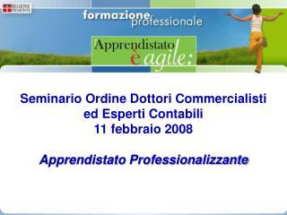 Seminario Ordine Dottori Commercialisti  ed Esperti Contabili  11 febbraio 2008