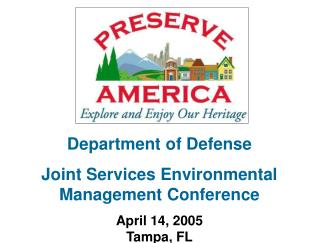 Department of Defense  Joint Services Environmental Management Conference