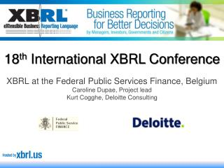 18 th  International XBRL Conference