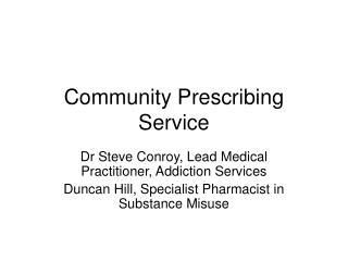 Community Prescribing Service