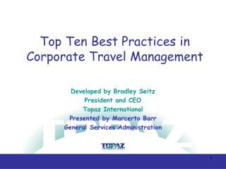 Top Ten Best Practices in Corporate Travel Management