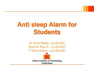 Anti sleep Alarm for Students