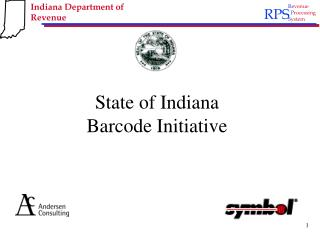 State of Indiana Barcode Initiative