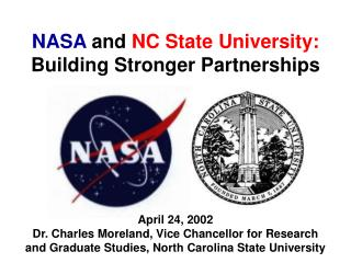 NASA  and  NC State University: Building Stronger Partnerships