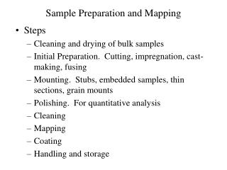 Sample Preparation and Mapping