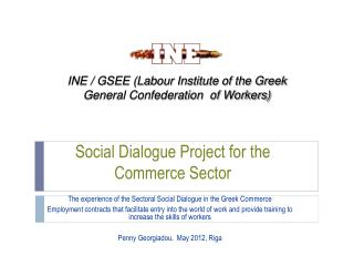 Social Dialogue Project for the Commerce Sector
