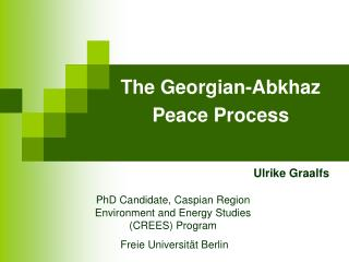 The Georgian-Abkhaz  Peace Process