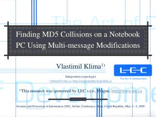 Finding MD5 Collisions on a Notebook PC Using Multi-message Modifications