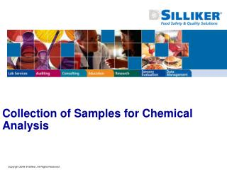 Collection of Samples for Chemical Analysis