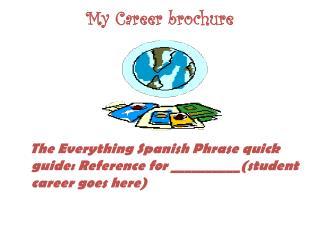 My Career brochure