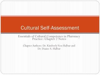 Cultural Self-Assessment
