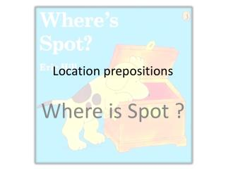 Location prepositions