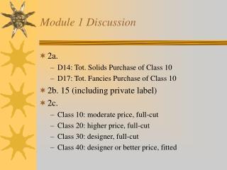Module 1 Discussion
