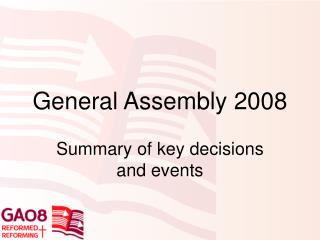 General Assembly 2008