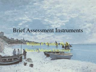 Brief Assessment Instruments