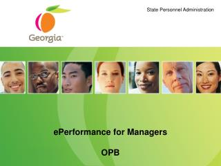 ePerformance for Managers OPB