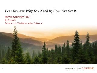 Peer Review: Why You Need It; How You Get It