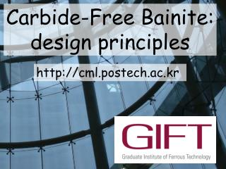 Carbide-Free Bainite: design principles