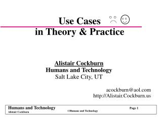 Use Cases in Theory & Practice