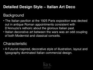 Detailed Design Style – Italian Art Deco Background