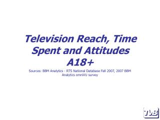 Television Reach, Time Spent and Attitudes A18+