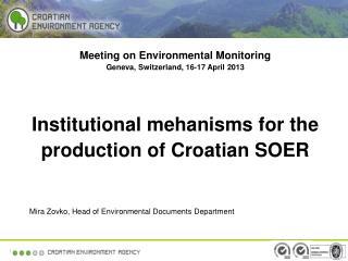Meeting on Environmental Monitoring Geneva, Switzerland, 16-17 April 2013