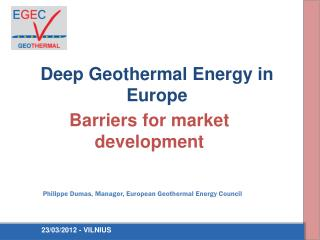 Deep Geothermal Energy in Europe