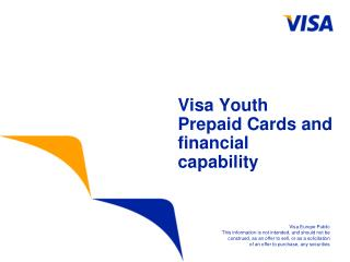 Visa Youth Prepaid Cards and financial capability