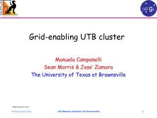 Grid-enabling UTB cluster