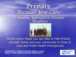 Prepare Because You Care