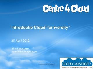 "Introductie  Cloud  "" university """