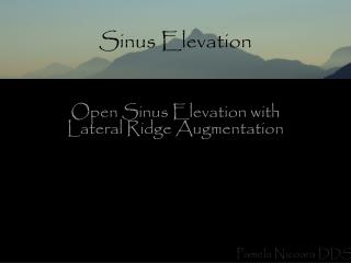 Sinus Elevation
