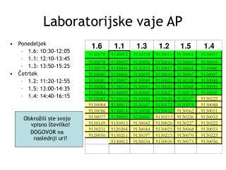 Laboratorijske vaje AP