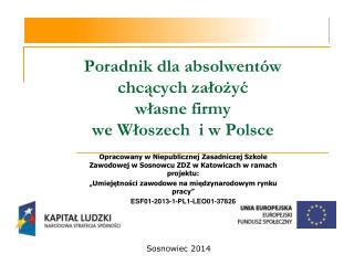 Poradnik dla absolwentów chcących założyć własne firmy we Włoszech  i w Polsce