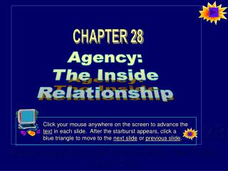 Agency: The Inside Relationship
