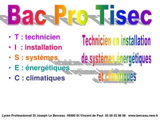 Bac Pro Tisec